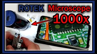 Wireless Digital Microscope ROTEK RT-107W 50x and 1000x Magnification HD 1080P 2 MP FULL REVIEW