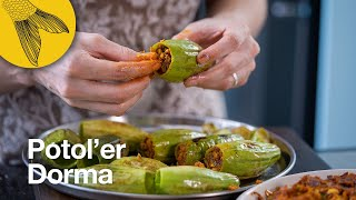 Potoler dorma—two versions   Bengali stuffed pointed gourd recipe