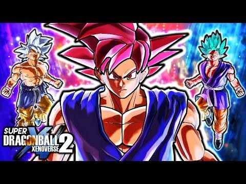 GT GOKU UNLOCKS GOD KI?! Dragon Ball Xenoverse 2 GT Goku ALL God Forms Gameplay (Ultra Instinct GT)