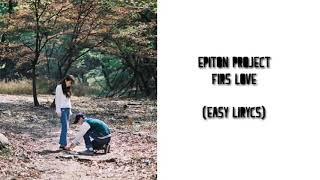 Epitone project (에피톤 프로젝트)—Fors love (첫사랑) Easy lirycs
