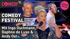 Ingo Oschmann, Daphne de Luxe & Andy Ost beim hr Comedy Festival