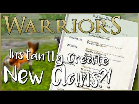 WARRIOR CATS 🐈 Instantly Create Your Own Clan?! 🐈 Random