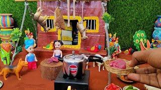 Easy Pressure Cooker Mutton Biryani | Miniature Mutton Shop | Miniature Cooker | Mutton Biryani