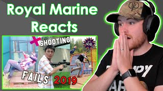 Royal Marine Reacts To Shooting FAILS Competition 2019 - practical shooting