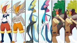 FULL FINAL STARTER EVOLUTIONS TEAM! ( POKEMON SWORD AND SHIELD )