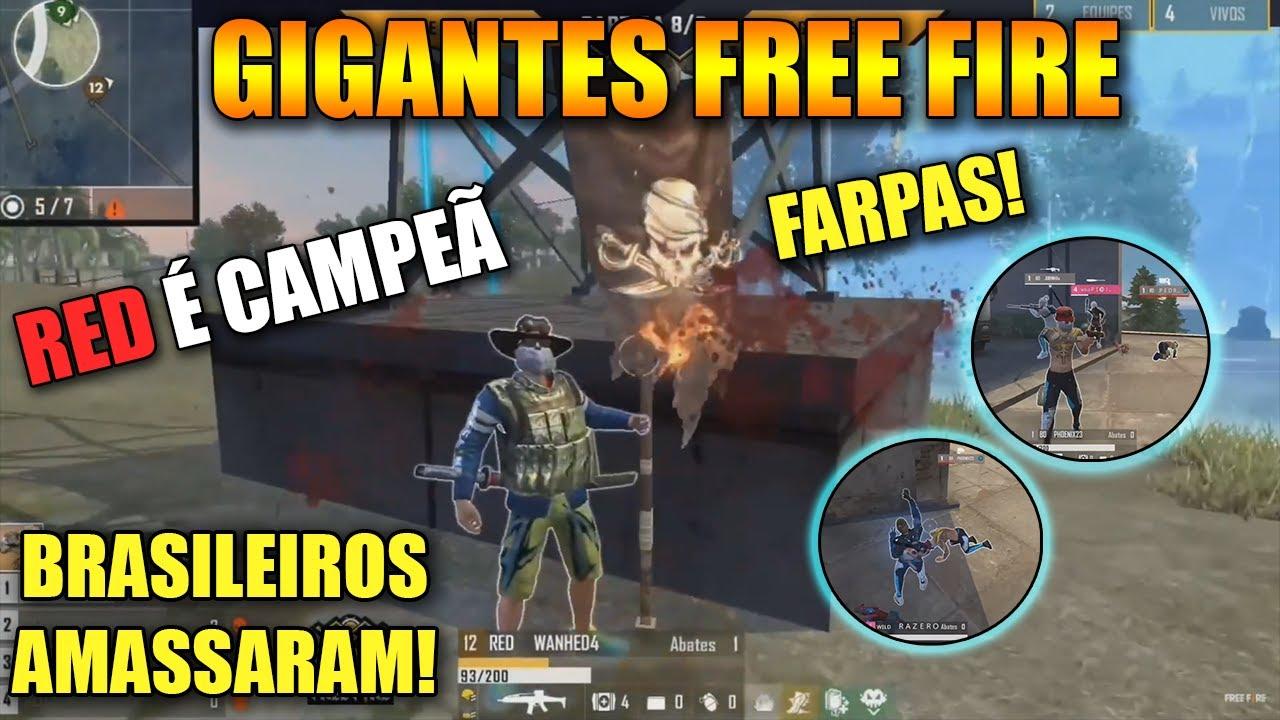 GIGANTES FREE FIRE - RED É CAMPEÃ - BRASILEIROS AMASSARAM! ROLOU FARPAS! CLIPS FF
