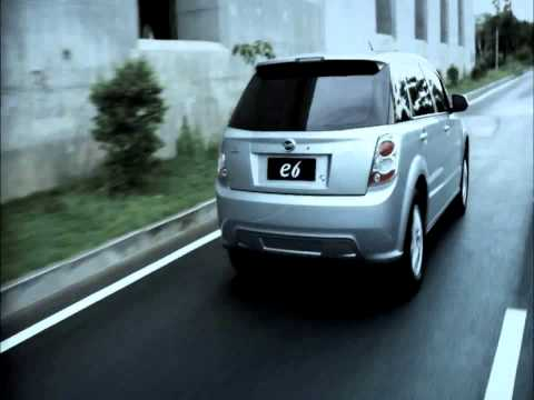 BYD's green activities and latest electric car E6.wmv