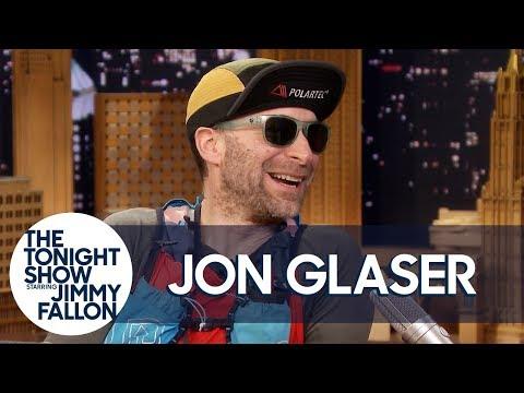 Jimmy Helps Jon Glaser Unpack Some of His Intense Running Gear
