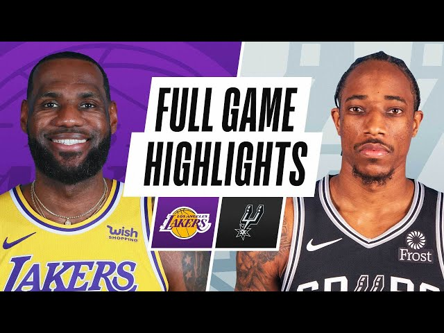 LAKERS at SPURS | FULL GAME HIGHLIGHTS | January 1, 2021