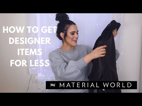 How to get Cheap DESIGNER Clothes! | Material World Box Subscription Service