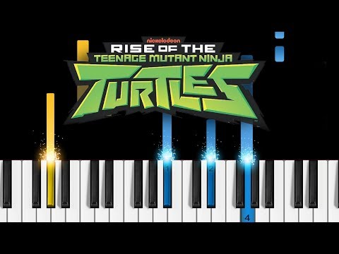 Rise of the Teenage Mutant Ninja Turtles - Theme Song - EASY Piano Tutorial