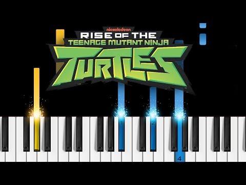 Rise of the Teenage Mutant Ninja Turtles - Theme Song - EASY Piano Tutorial