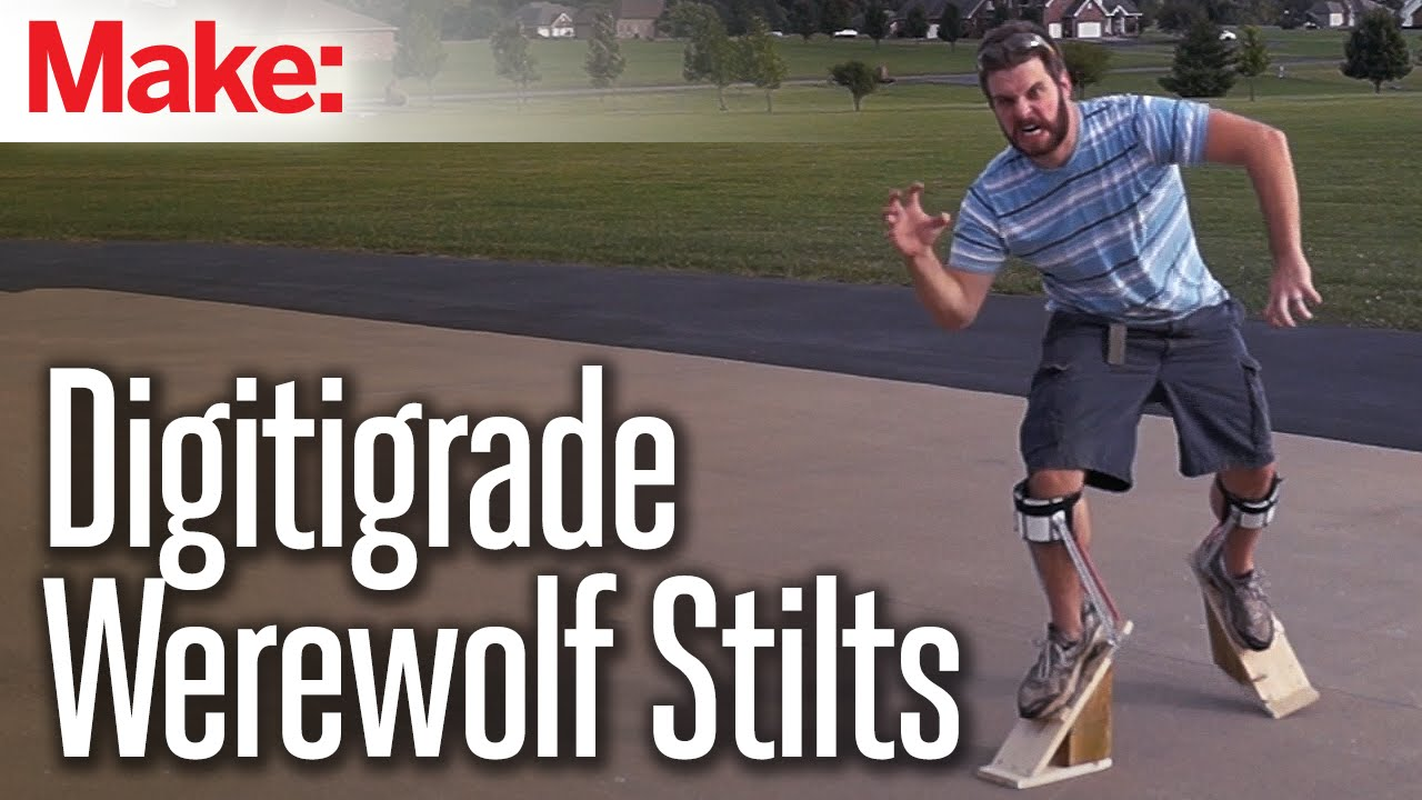 How to make digitigrade stilts for werewolf or dragon costumes youtube solutioingenieria Image collections
