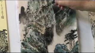 What is Ax or Axe Cut Strokes and How to do it in Chinese Landscape Painting (3/3)
