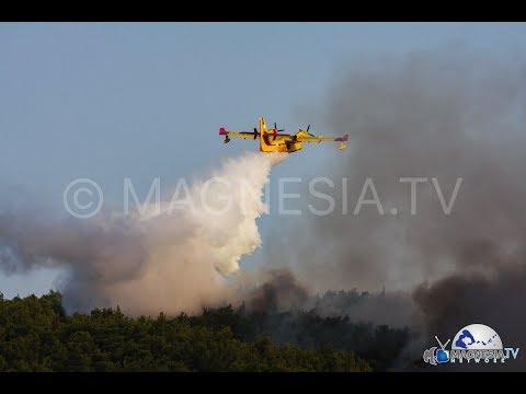 SKOPELOS: Μεγάλη πυρκαγιά  στην περιοχή Αμάραντος στην Σκόπελο 22-7-2018