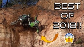 BEST OF 2018!! DIRT BIKE CRASHES, FAILS, AND FUNNY MOMENTS