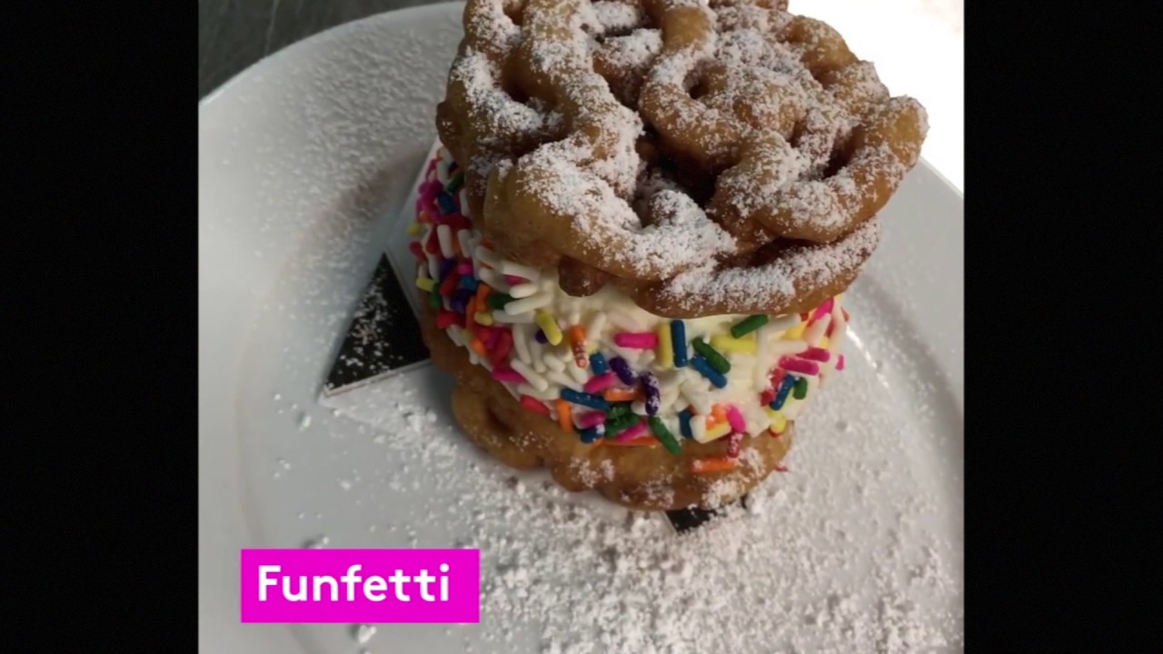 Funnel Cake Ice Cream Sandwich Nyc