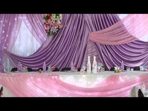 Cмотреть видео онлайн Украшение залов Оформление свадьбы.