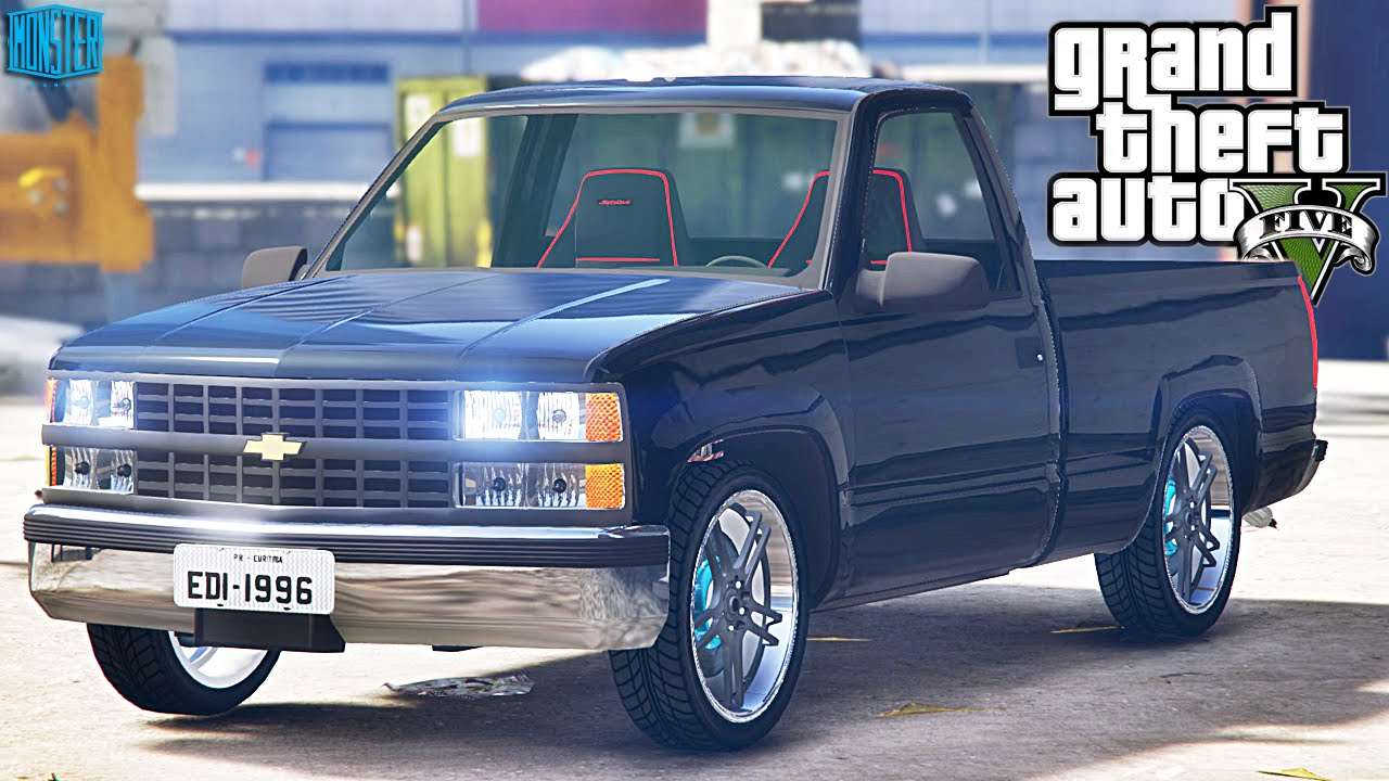 GTA V MOD - TUNANDO CARRO CHEVROLET SILVERADO - YouTube