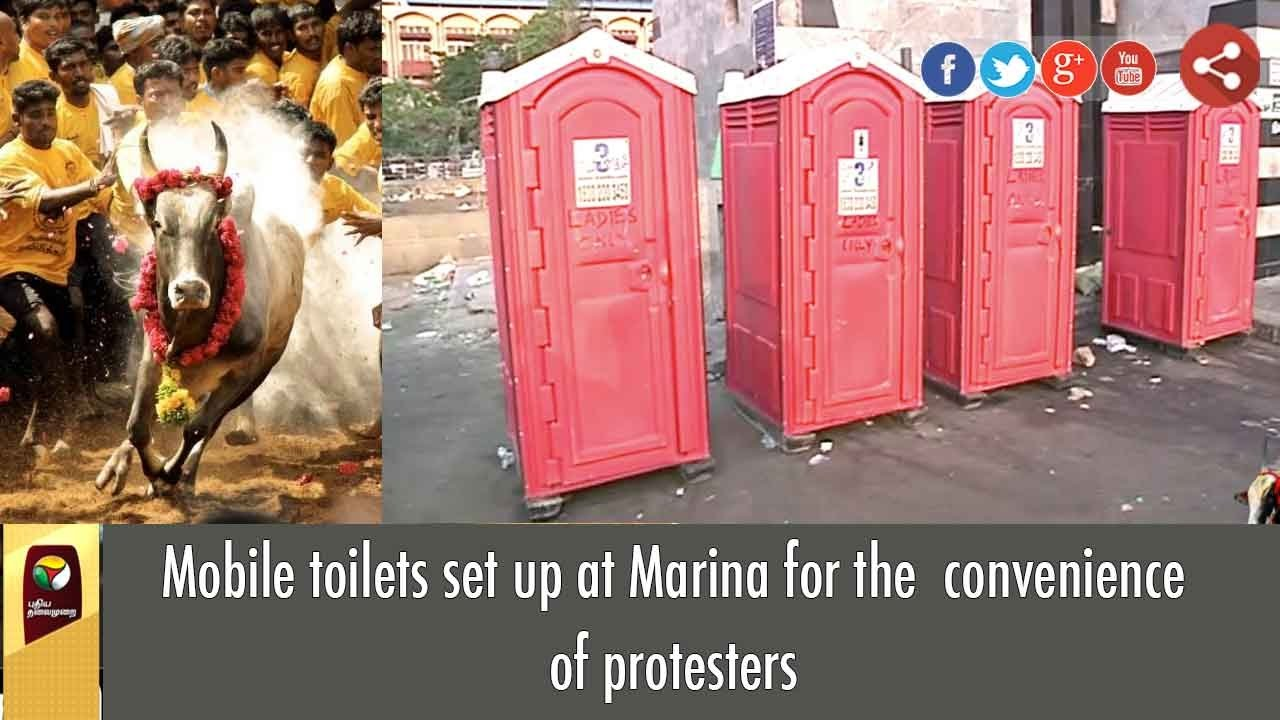 Mobile toilets set up at marina for the convenience of for Mobili convenienti