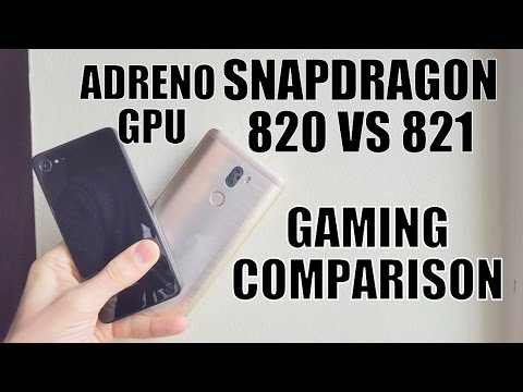 Snapdragon 820 vs 821 GAMING Comparison/Speed test/hi end games/gameplay/Adreno 530 GPU/review/Chip
