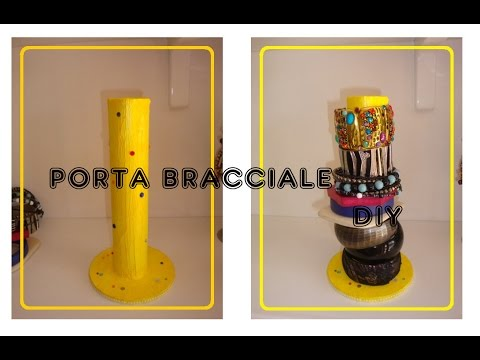 Diy porta bracciali fai da te bracelets holder youtube for Porta cellulare fai da te jeans