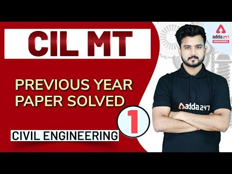 CIL MT Preparation - Civil Engineering - Previous Year Paper Solved (Set 1) - 동영상