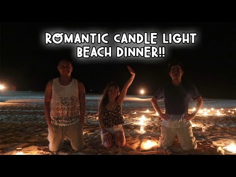 AMAZING ROMANTIC CANDLE LIGHT BEACH DINNER (SRI LANKA) | Vlog #103
