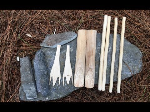 Primitive Survival Skills: Technology Fork, Spoon, Chopsticks Primitive