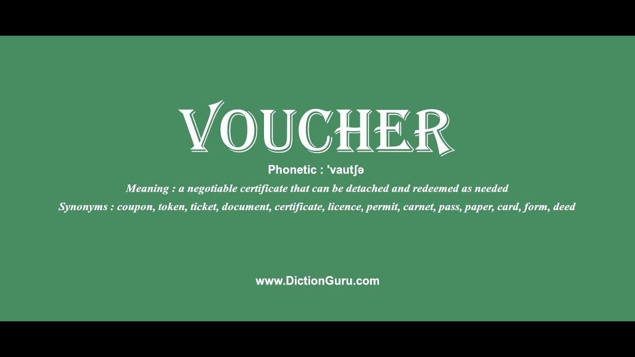Voucher Definition