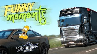 Euro Truck Simulator 2 Multiplayer Funny Moments & Crash Compilation #102