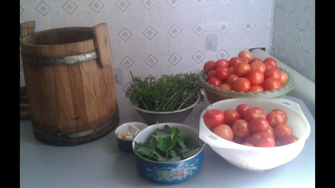 маринованные помидоры в бочке