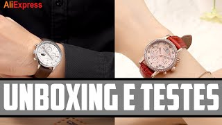 Unboxing Relógio Twincity A Prova D'Agua - Cindy Fang ALIEXPRESS