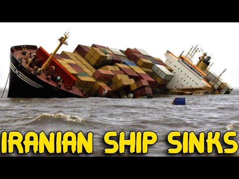 Iranian cargo ship SINKS near Russian port