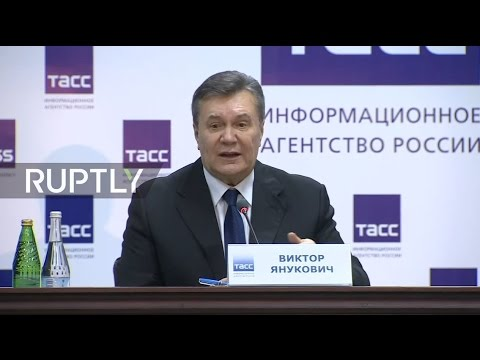 LIVE: Yanukovych holds press conference after testifying over Maidan shootings