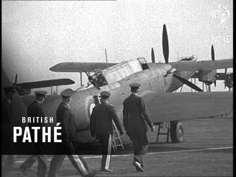 German Flying Officers Visit Mildenhall (1937)