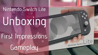 Unboxing Gray Nintendo Switch Lite, Ultimate Protection Pack, First Impressions, and Gameplay