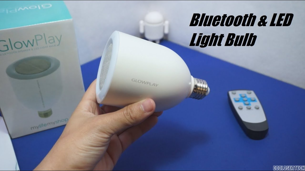 Glowplay bluetooth speaker led light bulb 20 youtube for Best bluetooth light bulb speaker