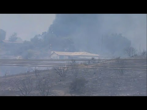 Fast Moving Wildfires Burning In San Diego