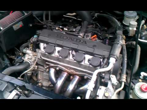 2004 Civic Header And Flowmaster Exhaust Youtube