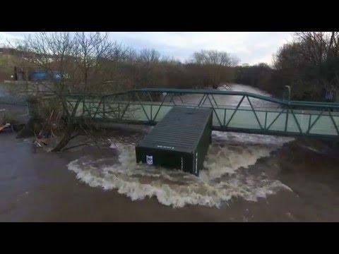 Shipley Floods HD 27.12.15 Phantom 3 Drone mg Flooding in Shipley, West Yorkshire, England