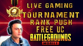 PUBG MOBILE LIVE CUSTOM ROOMS - GIVEAWAY - RUSH GAMEPLAY