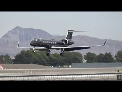 Marnell Gaming Management Gulfstream V (N111AM) arriving at Las Vegas!