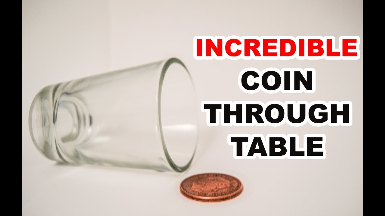 Incredible Coin Through Table - Magic Trick Tutorial