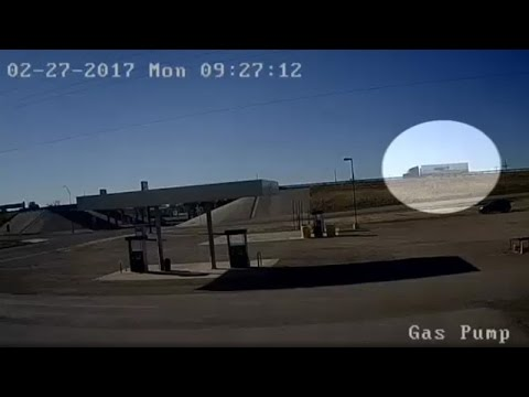 Surveillence Footage: Truck Crash Off Interstate 40 In Amarillo, Texas