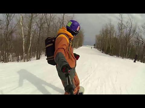 High Speed 88 kmph on a Snowboard - Double Black Diamond