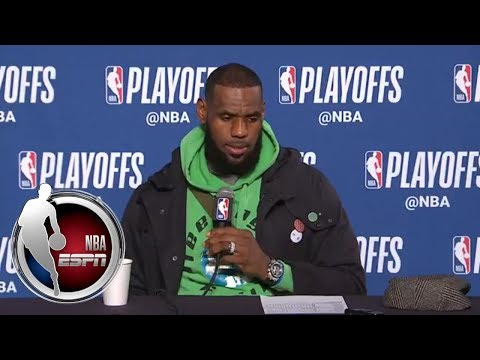 [FULL] LeBron James: 'Today was a good test for some of our younger guys' | NBA on ESPN