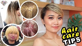 DRUGSTORE HAIRCARE   PROPER HAIR CARE + TIPS    DAMAGED HAIR CARE ROUTINE   MAE LAYUG