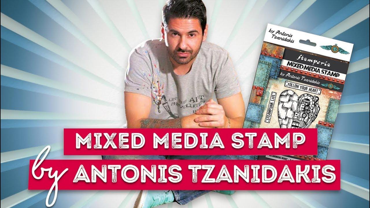 NEW Stamperia  Mixed Media Stamps Antonis Tzanidakis Steampunk News