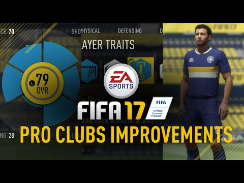 FIFA 17 PRO CLUBS NEW FEATURES!